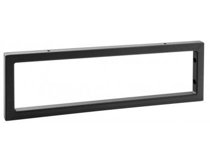 Podpěrná konzole 490x150x20mm, lakovaná ocel, černá mat, 1 ks