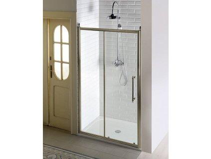 ANTIQUE sprchové dveře posuvné,1100mm, ČIRÉ sklo, bronz