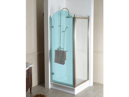 ANTIQUE boční stěna 900mm, ČIRÉ sklo, bronz