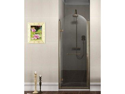 ANTIQUE sprchové dveře otočné, 800mm, levé, ČIRÉ sklo, bronz