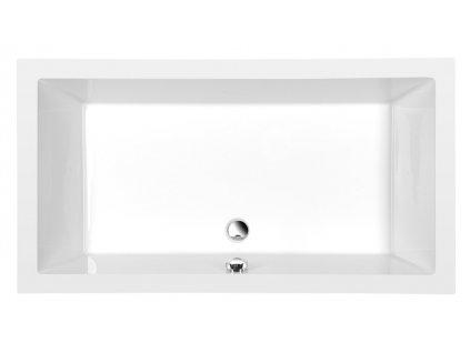 DEEP hluboká sprchová vanička, obdélník 140x75x26cm, bílá