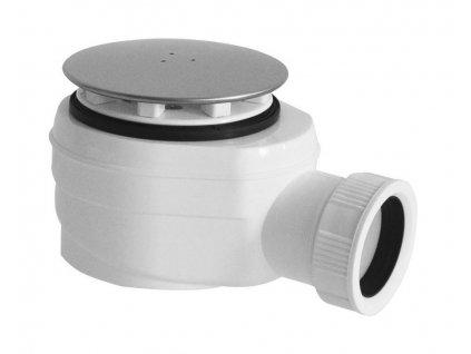 Vaničkový sifon, průměr otvoru 60 mm, DN40, krytka leštěný nerez
