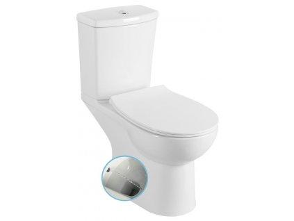 KAIRO WC kombi s bidetovou sprškou, zadní odpad, bílá