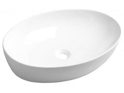 PERA keramické umyvadlo 62,5x14x42 cm, na desku