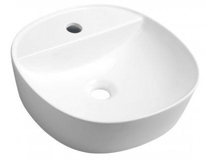 LUGANO keramické umyvadlo průměr 40x12 cm, na desku