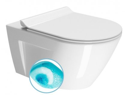 NORM závěsná WC mísa, Swirlflush, 55x36 cm, bílá ExtraGlaze