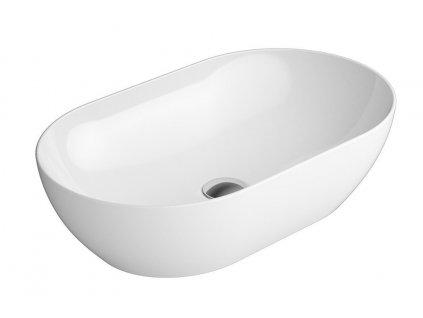 PURA keramické umyvadlo na desku 60x37 cm, bílá ExtraGlaze