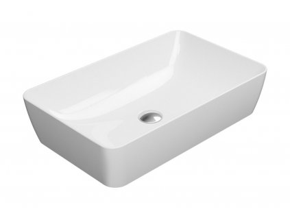 SAND keramické umyvadlo na desku 60x38 cm, bílá ExtraGlaze