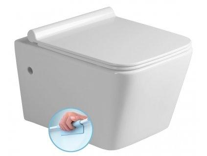 PORTO závěsná WC mísa, Rimless, vč. sedátka 36x52 cm, bílá