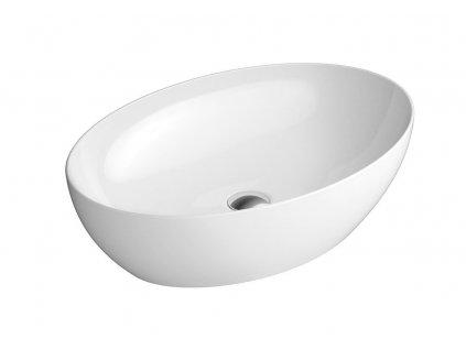 PURA keramické umyvadlo na desku 60x42 cm, bílá ExtraGlaze