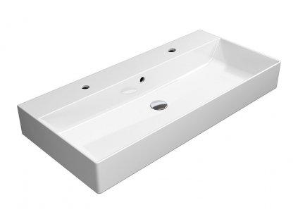 KUBE X keramické umyvadlo 100x47 cm, bílá ExtraGlaze