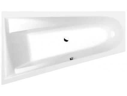 CHIQUITA L asymetrická vana 170x100x45cm, bílá