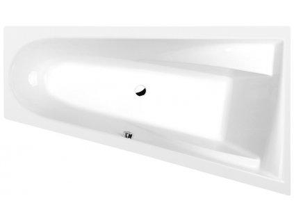CHIQUITA R asymetrická vana 170x100x45cm, bílá