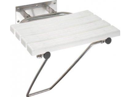 Sklopné sprchové sedátko s opěrnou nohou, bílá (301102181)
