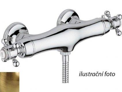 SASSARI nástěnná sprchová termostatická baterie, bronz