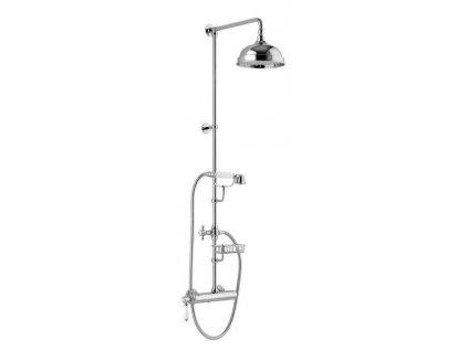 VIENNA sprch. sloup s pákovou baterií, mýdlenka, v. 1267mm, chrom