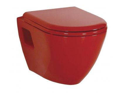 PAULA WC závěsné 35,5x50cm, červená (TP325.70100)