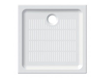 Čtvercová sprchová vanička, keramická