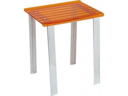 LEO koupelnová stolička 40x30x46cm, oranžová