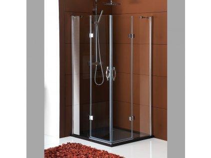 LEGRO čtvercová sprchová zástěna 900x900mm, čiré sklo
