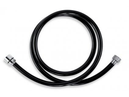 Sprchová hadice plastová 150 cm černá-chrom