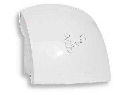 Elektrický senzorový osoušeč rukou, 1500 W, bílý