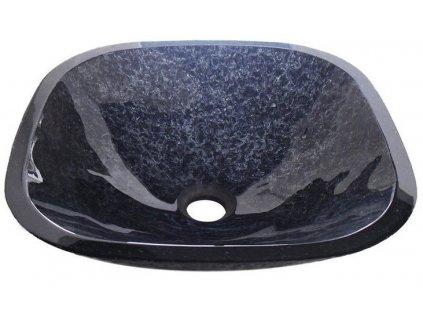 MAGIC skleněné umyvadlo čtvercové 41x41 cm, černá