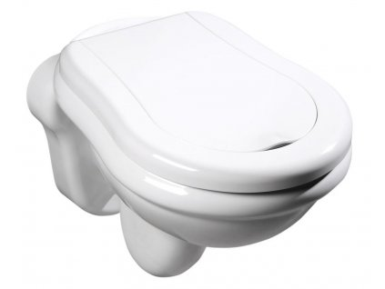 RETRO závěsná WC mísa, 38x52cm, bílá