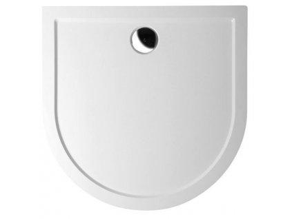 ISA 90 sprchová vanička z litého mramoru, půlkruh 90x90x4cm, bílá