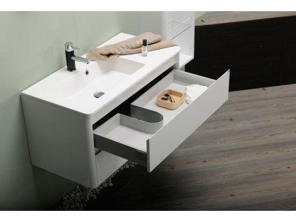 LUCIE umyvadlová skříňka 89,5x45x44,5cm, bílá