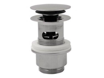Uzavíratelná kulatá výpust pro umyvadla s přepadem Click Clack, V 32-52mm, chrom