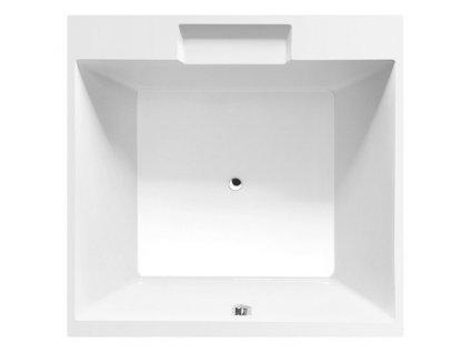 CAME čtvercová vana s konstrukcí 175x175x50cm, bílá