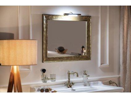 BERGARA zrcadlo v rámu 836x636mm, zlatá