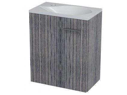 LATUS II umyvadlová skříňka 41,6x50x25cm, zebráno tmavé