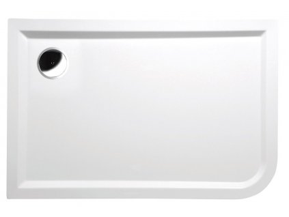 STYX R sprchová vanička z litého mramoru, obdélník 120x80x4cm, pravá, bílá