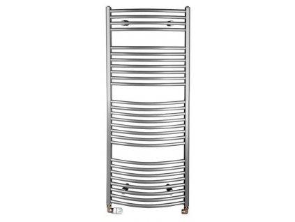 ORBIT otopné těleso s bočním připojením 450x1330 mm, 545 W, metalická stříbrná