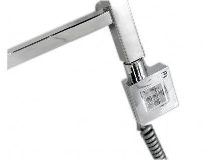KTX topná tyč s termostatem, 200 W, chrom