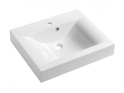 FLAVIA umyvadlo 60x50cm, litý mramor, bílá