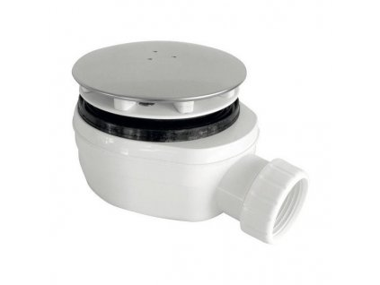 Vaničkový sifon, průměr otvoru 90 mm, DN40, nízký, krytka chrom