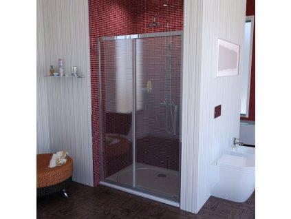 LUCIS LINE sprchové dveře 1100mm, čiré sklo