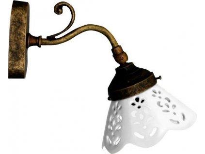 BARI svítidlo E14, 40W, 230V, keramické stínítko, bronz