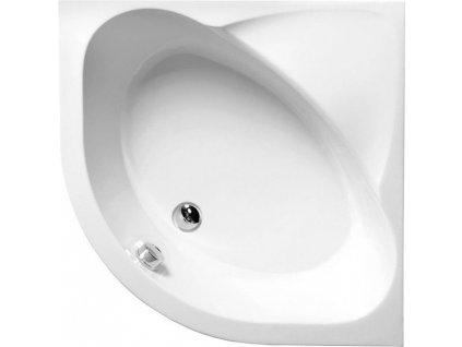 SELMA hluboká sprchová vanička, čtvrtkruh 90x90x30cm, R550, bílá