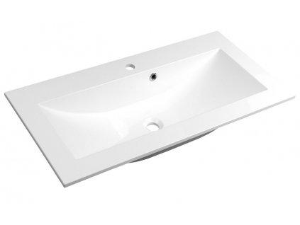 YUKON umyvadlo 90x45cm, litý mramor, bílá