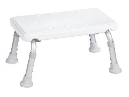 Stolička na nohy, výškově nastavitelná, bílá