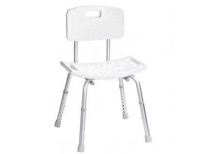 Židle s opěradlem, nastavitelná výška, bílá