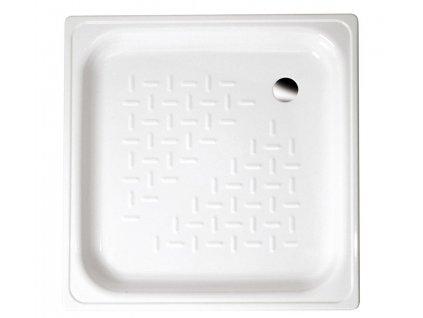 Smaltovaná sprchová vanička, čtverec 70x70x12cm, bílá