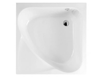 CARMEN hluboká sprchová vanička, čtverec 90x90x30cm, bílá