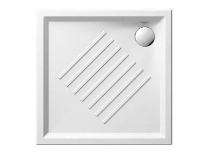Keramická sprchová vanička, čtverec 80x80x6cm
