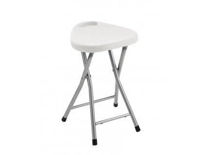 Koupelnová stolička 30x46,5x29,3 cm, bílá