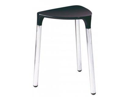 YANNIS koupelnová stolička 37x43,5x32,3 cm, černá